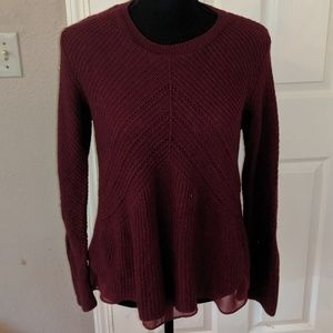 Lucky Brand Red Knit Sweater